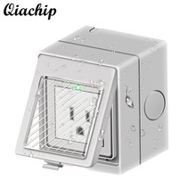 QIACHIP AC 100-250V IP55 Outdoor WiFi Smart EU US Plug Work With Amazon Alexa Google Home Weatherproof Socket APP Control Outlet(China)
