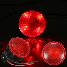 12V 125db Car Motorcycle Truck Brake Siren Horn Stop Reverse Turn Alarm Horn Red LED Light(China)