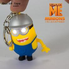 New production Despicable Me 3 Minions with hat led keychain with sound Mobile phone Car&Bag pendant promotion gift toy gifts