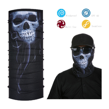 Custom Skull Specter Bandana Multifunctional seamless tube scarf breathable face shield