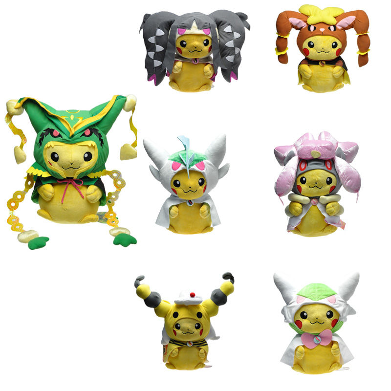 Plush Toys Pikachu Cosplay Rayquaza Mawile Lopunny Gallade Gardevoir Ampharos Diancie Stuffed Animals Dolls Children Toys Gifts<br><br>Aliexpress