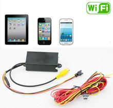 wifi backup reverse camera with RCA Jack system wireless android work for any type camera installed for car parking reversing