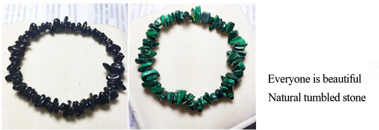 Natural quartz crystals tumbled stones Wealthy healing stones bracelet make of tumbled stones (4)