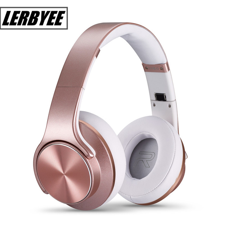 LONGET Headphones with Microphone and Volume Control for Travel, Work, Sport , Foldable Headset for Iphone and Android Devices<br>