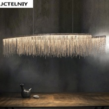 led Aluminum chain pendant light individuality brief living room lamps L150cm(China)