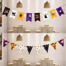 New Halloween Wall Hanging Cartoon Ghost/Pumpkin/Witch/Letter Flag Banner Pendant Flag Home Outdoor Party Decor TB Sale(China)
