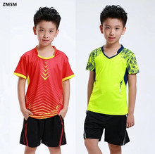 ZMSM 2017 Kids Tennis Shirts Shorts Kit Sports Jersey Wicking Quick Dry Children Badminton Table Tennis Running clothing Y03/6/7(China)