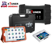 XTUNER T1 HD Heavy Duty Trucks Auto Diagnostic Tool + WIN10 Tablet Pre Install Truck Diagnostic Software+ Suitcase All In One