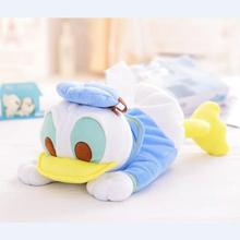 45cm Donald Duck&Mickey Mouse Plush Toy Cute Animal Tissue Cover Box Soft Stuffed Plush Dolls KidsToy Kawaii Gift For Children