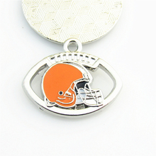 New Fashion NFL Team Logo Football Sports Cleveland Browns Dangle Charms Metal Pendant Fit DIY Bracelet&Necklace Jewelry