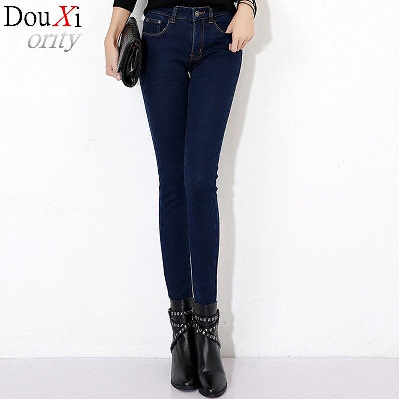 Slim skinny jeans women spring autumn Washed cashmere high waist jeans black  Pencil Pants  jeans size winter velvet women  Одежда и ак�е��уары<br><br><br>Aliexpress