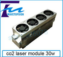 RF carbon dioxide laser 30W   beam diameter 1.8mm  metal co2 laser tube  engrave no metal material