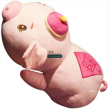 Dorimytrader Fashion Cute 65cm Giant Soft Cartoon Lying Pig Plush Pillow Doll 26'' Big Stuffed Animal Pink Pig Toy Lover Gift