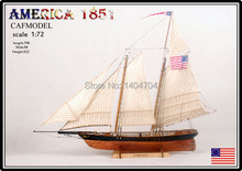 NIDALE Model Sacle 1/72 Classic  Americas Cup sailboat model kits AMERICA 1851 Yacht race Champion ship model