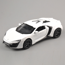 Collectible Model Car Toys 1/32 Scale Alloy Lykan Hypersport Fast and Furious Electronic Diecast Cars Toys for Boys Kids(China)