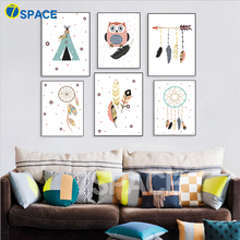 7-Space Modern Cartoon Indian Style Decoration Posters And Prints A4 Canvas Painting Wall Picture For Kids Room Decor No Frame
