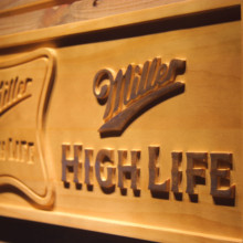 Miller High Life Beer 3D Wooden Sign(China)