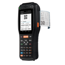 Handheld pda android barcode scanner terminal with printer(China)