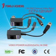 CCTV CAT5 balun rj45 video power Balun Video Audio Power pvd balun for camera 5Pair
