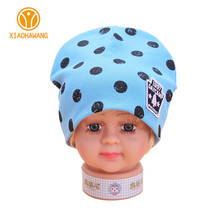 Dot Baby Hat Cotton Baby Boys Girls Caps Spring Autumn Elastic Big Boys Beanies 2017 Girls Sun Hats Baby Accessories 6-18 Months