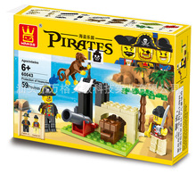 Pirate Series Building Blocks Pirates Paradise Model Assembly DIY Gifts For Children Bricks Compatible With Lego Wange