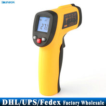 DHL Fedex UPS 20PCS Digital -50 To 420 degree Non-Contact Infrared Thermometer Themperature Pyrometer IR Laser Point Gun(China)