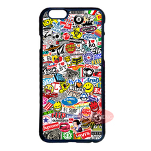 Sticker Bomb Cover Case for LG G2 G3 G4 Samsung S3 S4 S5 Mini S6 S7 Edge Plus Note 2 3 4 5 iPhone 4S 5S 5C 6 6S 7 Plus iPod 5 #F