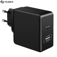 45W USB C Wall Charger Power Delivery PD Charger 2.4A USB Charge Adapter for Apple MacBook 2015/2016 Samsung Notebook Nexus 5X(China)