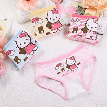 Buy 4PCS/lot New Underwear Children Cute hello kitty cartoon cotton baby pants Sexy Lingerie Cute brief Girls Boys Panties