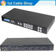 Switcher splitter HDMI Matrix 4X4 by cat5e/6 cable up to 50M 4 HDMI receivers included with RS232&TCP/IP control 3D&1080P