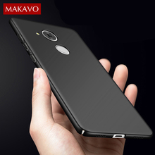 MAKAVO For Huawei Honor 6c Pro Case 360 Protection Slim Matte Hard Plastic Back Cover for Huawei V9 Play Phone Cases Housing(China)