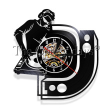 1Piece Are you Ready DJ Party Decorative Wall Clock Disco Club Vinyl Record Clock Wall Art Modern Handmade Gifr For DJ Friends(China)
