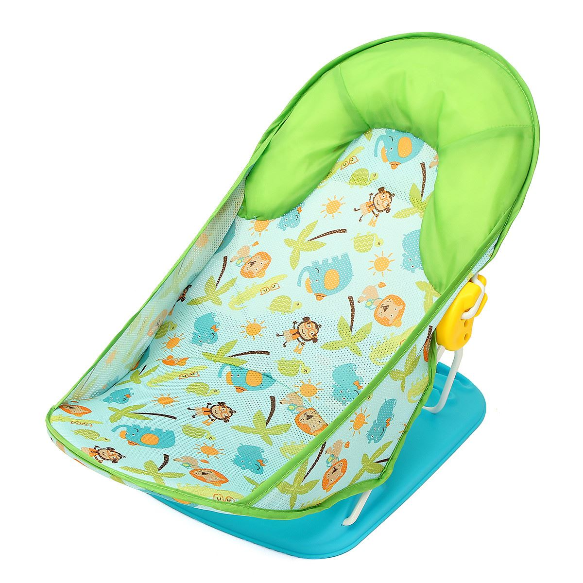 Newborn Infant Baby Safety Bath Tub Baby Toddler Bath Shower Support Seat Chair Soft Comfort Bath Supplies Foldable Washable<br>