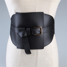 Irregular Soft PU Wide Belt Women's Bandage Girdle for Woman Adjustable Ladies Designer Belts Female Pin Buckle Waist Decoration