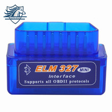 TOP 100% Hardware V1.5 Super MINI ELM327 Software V2.1 Bluetooth 12Kinds Multi-Langugae OBDII CAN-BUS Works ON Android Torque/PC