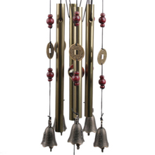 Wind Chimes metal multi-tube antirust wind chimes extra large copper alloy bells birthday Hanging Decorations free shipping N661