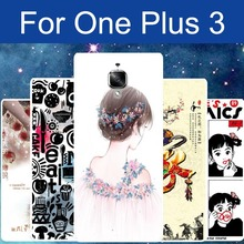 One Plus Three phone cover protective case Oneplus 3 3T Thin soft TPU Rubber Back Style Fashion Print Photo Pouch Bags Discount