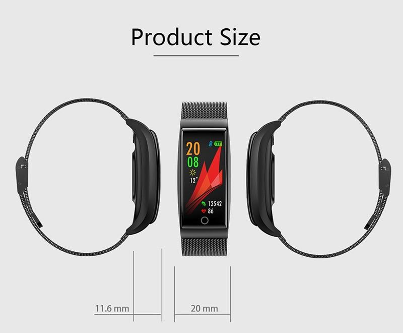 VERYFiTEK F4 Metal Smart Band Wristband Blood Pressure Heart Rate Monitor Men Women Fitness Watch Pedometer Smart Bracelet (27)