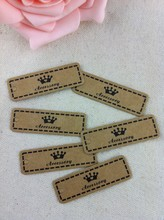Wholesale Paper Jewelry Tags Card,500pcs/lot  Brown Crown Custom Jewelry&Clothes Label Tags Cards For Free Shipping