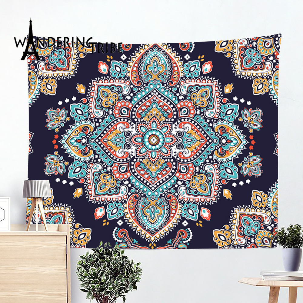 Crescent Moon Tapestry Wall Hanging Boho Celestial Space Bohemian Tapestries Dorm Room Bedroom Decor Art Printed in the USA Small to Giant Sizes