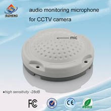 SIZHENG high sensitivity -28dB security camera microphone sound monitor pickup mic for CCTV