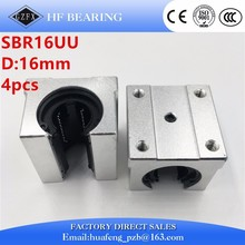 4 pcs SBR16UU SBR16 UU 16mm Linear Bearing Pillow Block 16mm Open Linear Bearing Slide Block CNC Router Parts