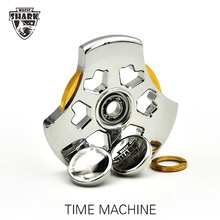 Magic Shark TIME MACHINE Spinner Pure Stainless Steel 18K Gold Unique Hand Spinners Metal high Speed Fidget Spiners Anti Stress
