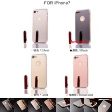 Deluxe Cheap Best Fashion Vintage New Soft TPU Electroplating Mirror Phone Case Capa Caso For iPhone ihone iohone 7 Gold Black