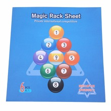Magic Rack Sheet 6pcs/pack Pool Cue The Greatest Tip Tool 9ball / 10 ball Billiard triangle Cue rack Accessories