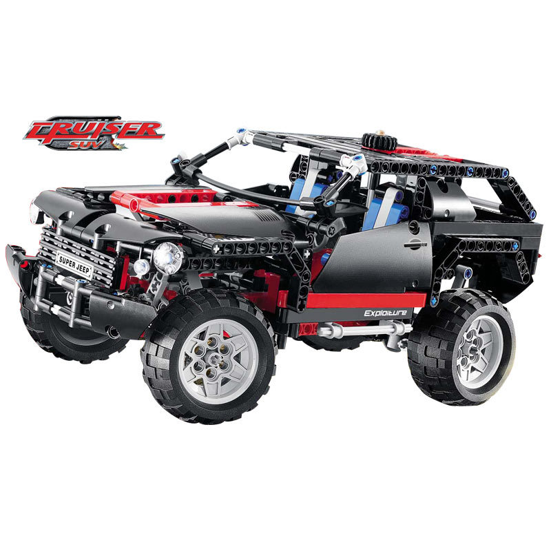 Hot 3341 Transport Cruiser SUV 589pcs Racing Car Model Building Block Sets  Educational DIY Bricks Toys<br>