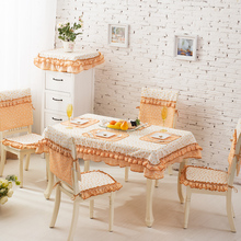 Orange lace European  embroidery tablecloth / coffee tablecloth TV cabinet / table set suit / Chair cover /  table runner