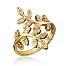 Classical Italy Design Leaves Design Gold Statement Ring