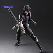 Final Fantasy Action Figure Play Arts Kai Noctis Lucis Caelum Anime Final Fantasy 15 Model Toys 270MM Playarts F02