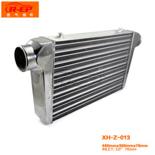 "Universal Turbo Intercooler 450x300x76 Front Mount Intercooler For Honda Civic Integra Saab 3"" Inlet 76MM Turbo Inter Cooler"